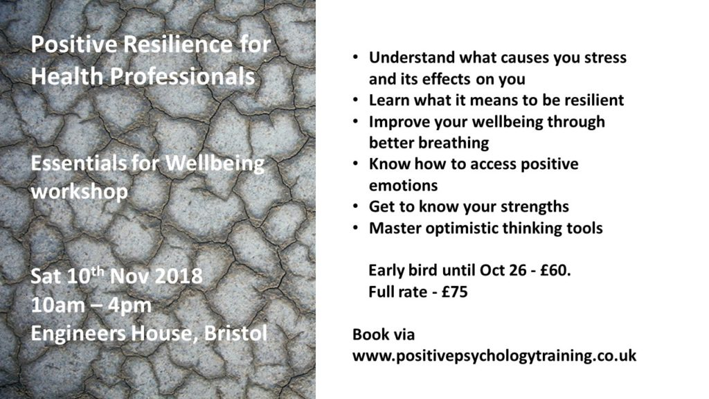 Positive Resilience for Health Professionals - Network of Wellbeing